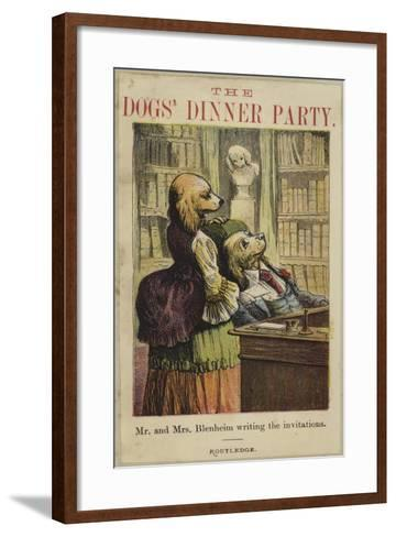 Mr and Mrs Bleheim Writing the Invitations--Framed Art Print
