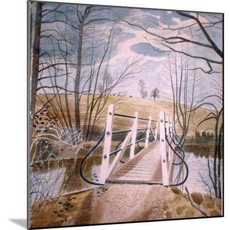 Iron Bridge at Ewenbridge, 1942-Eric Ravilious-Mounted Giclee Print