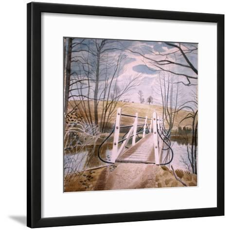 Iron Bridge at Ewenbridge, 1942-Eric Ravilious-Framed Art Print