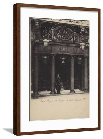 Cafe Royal, 68, Regent Street, London, West--Framed Art Print
