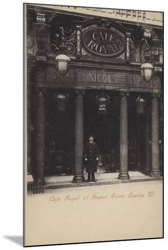 Cafe Royal, 68, Regent Street, London, West--Mounted Photographic Print