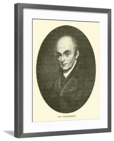 Dr Vanderkemp--Framed Art Print