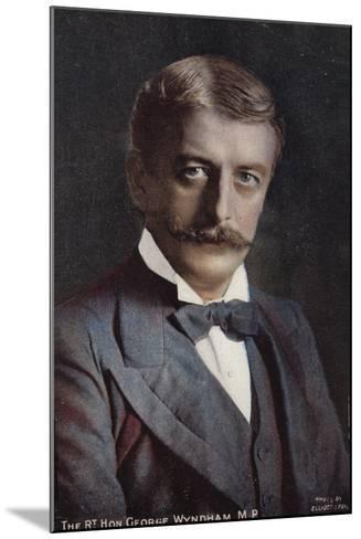 George Wyndham--Mounted Photographic Print
