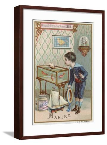 Navy--Framed Art Print