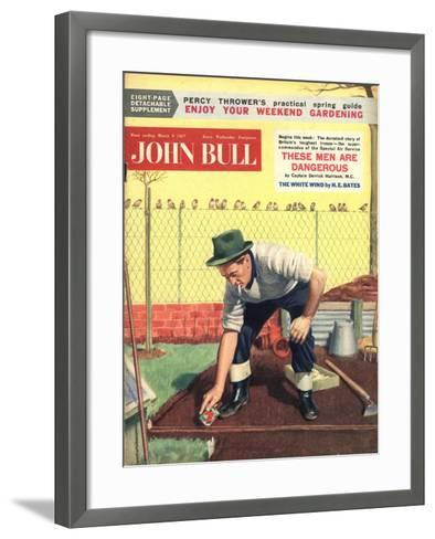 Front Cover of 'John Bull', March 1957--Framed Art Print