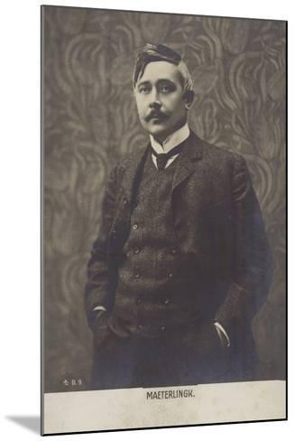 Portrait of Maurice Maeterlinck--Mounted Photographic Print