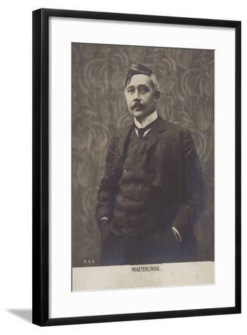Portrait of Maurice Maeterlinck--Framed Art Print