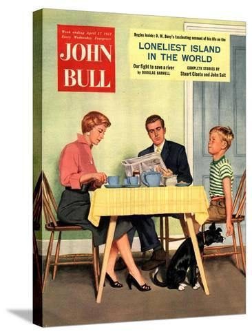 Front Cover of 'John Bull', April 1957--Stretched Canvas Print