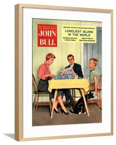 Front Cover of 'John Bull', April 1957--Framed Art Print