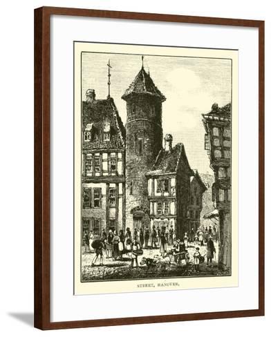 Street, Hanover--Framed Art Print