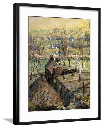 The Pigeon Coop, C.1916-Ernest Lawson-Framed Art Print