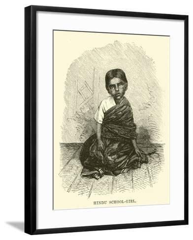 Hindu School-Girl--Framed Art Print