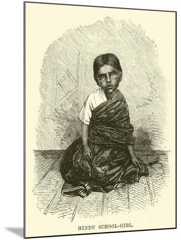 Hindu School-Girl--Mounted Giclee Print