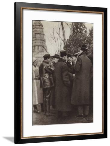 Lenin in Red Square, Moscow, 7 November 1918--Framed Art Print
