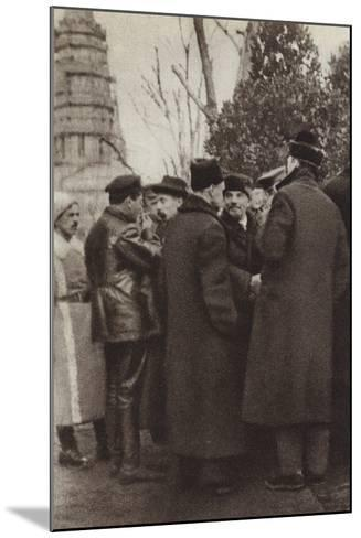 Lenin in Red Square, Moscow, 7 November 1918--Mounted Photographic Print