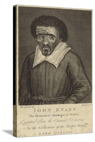 Portrait of John Evans--Stretched Canvas Print