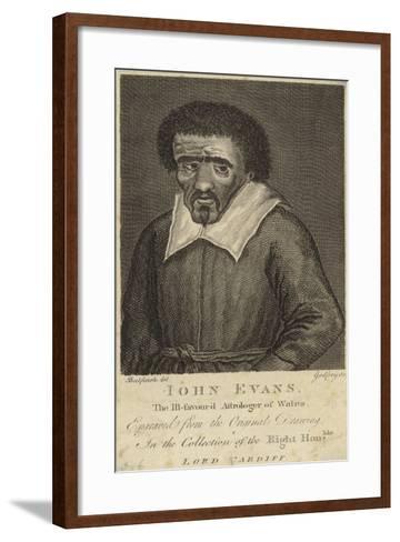 Portrait of John Evans--Framed Art Print