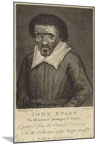 Portrait of John Evans--Mounted Giclee Print