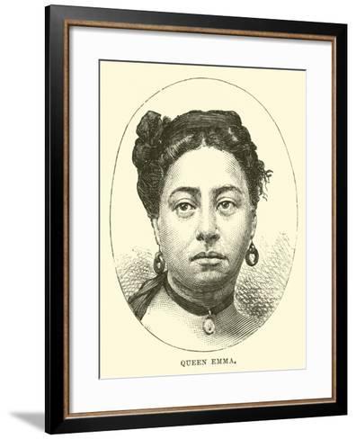 Queen Emma--Framed Art Print