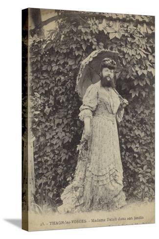 Thaon-Les-Vosges, Madame Delait in Her Garden--Stretched Canvas Print
