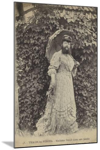 Thaon-Les-Vosges, Madame Delait in Her Garden--Mounted Photographic Print