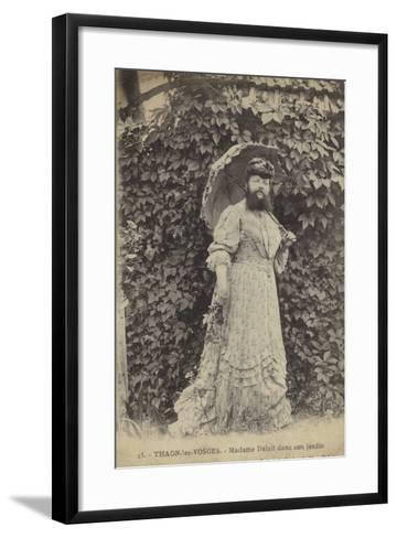 Thaon-Les-Vosges, Madame Delait in Her Garden--Framed Art Print