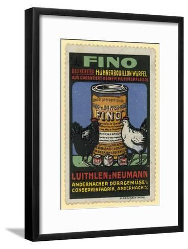Luithlen and Neumann Fino Chicken Stock--Framed Art Print