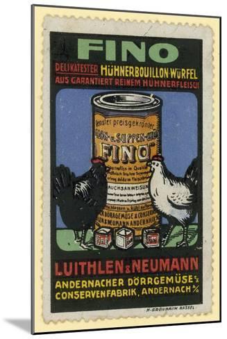 Luithlen and Neumann Fino Chicken Stock--Mounted Giclee Print