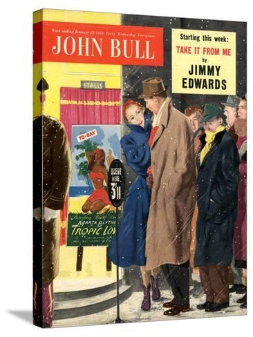 Front Cover of John Bull, January 1953--Stretched Canvas Print