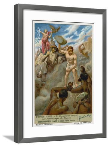 Prometheus and Zeus--Framed Art Print