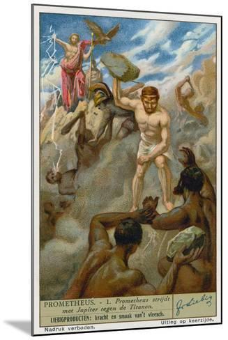 Prometheus and Zeus--Mounted Giclee Print