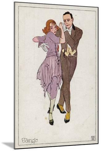 The Tango--Mounted Giclee Print