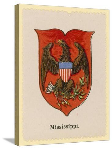 Coat of Arms of the State of Mississippi--Stretched Canvas Print