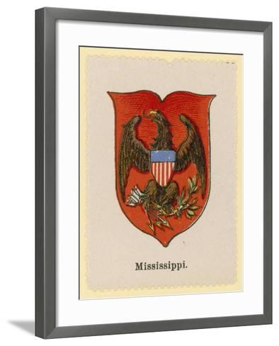 Coat of Arms of the State of Mississippi--Framed Art Print