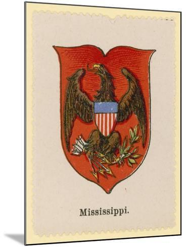 Coat of Arms of the State of Mississippi--Mounted Giclee Print