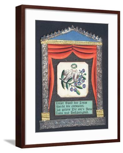 German Greetings Card--Framed Art Print