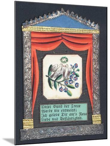German Greetings Card--Mounted Giclee Print