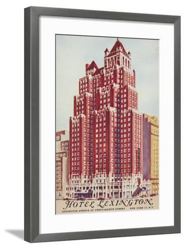 Hotel Lexington; New York City, Usa--Framed Art Print