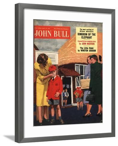 Front Cover of 'John Bull', April 1955--Framed Art Print