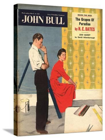 Front Cover of 'John Bull', March 1956--Stretched Canvas Print