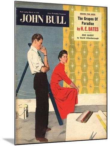 Front Cover of 'John Bull', March 1956--Mounted Giclee Print