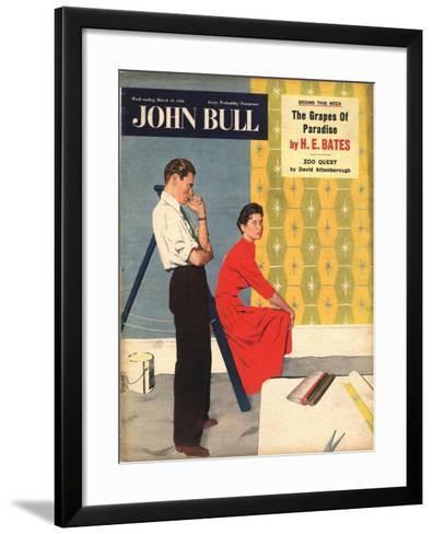 Front Cover of 'John Bull', March 1956--Framed Art Print