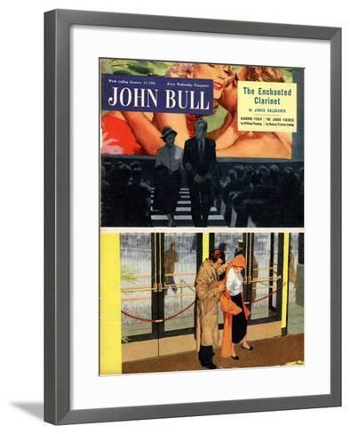 Front Cover of 'John Bull' Magazine, January 1956--Framed Art Print