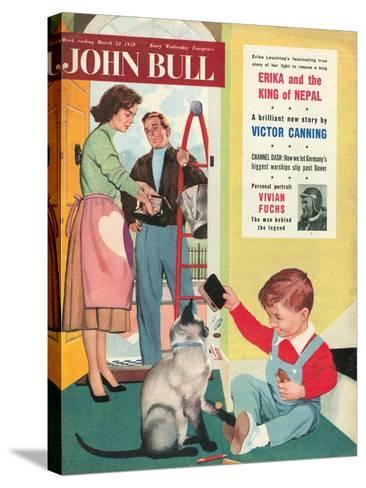 Front Cover of 'John Bull', March 1958--Stretched Canvas Print