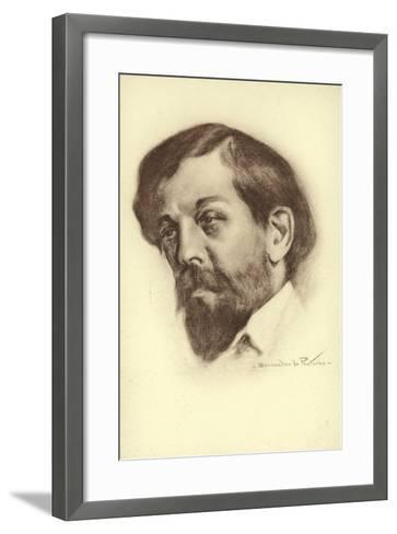 Claude Debussy, French Composer--Framed Art Print