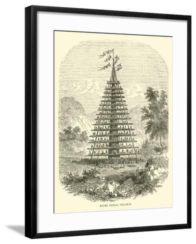 Maori Festal Pyramid--Framed Art Print