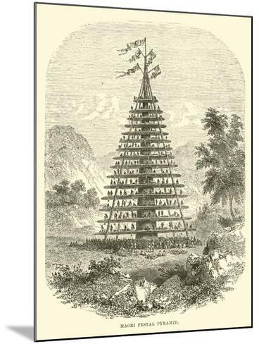 Maori Festal Pyramid--Mounted Giclee Print