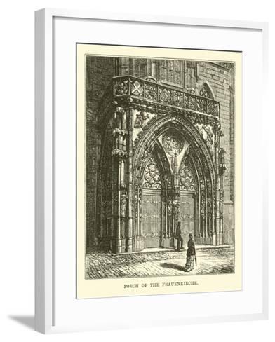 Porch of the Frauenkirche--Framed Art Print