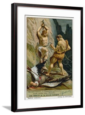 Prometheus Relaeased from His Chains by Hercules--Framed Art Print