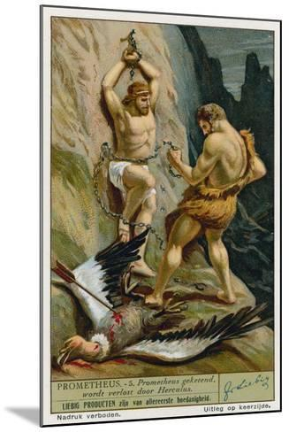 Prometheus Relaeased from His Chains by Hercules--Mounted Giclee Print